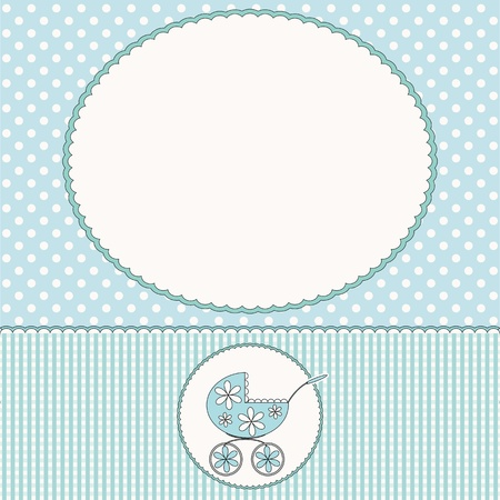 buggy: Baby arrival card or baby photo frame