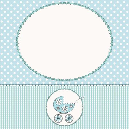 Carte d'arrivée de bébé ou bébé cadre photo