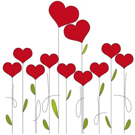 february 14: Flowers hearts
