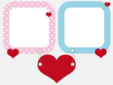 wedding photo frame: Valentine photo frames with hearts