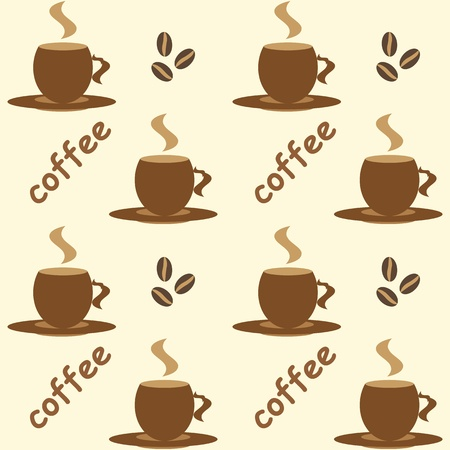 Seamless coffee background Vector