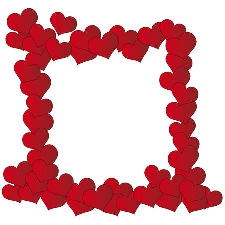 Valentine frame of hearts Vector