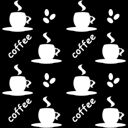 Seamless background of coffee Vector