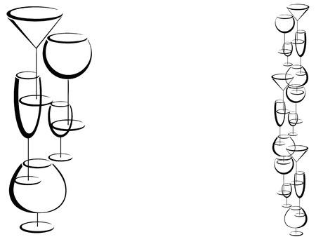 liqueur labels: Wine bar card