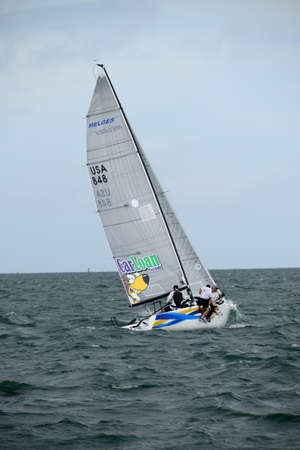 high tech world: Miami, FL   This past weekend, just ahead of the great American Thanksgiving holiday, over twenty Melges 24s descended upon the venue of the 2016 World Championship, the Miami Yacht Club MYC for the first act of the U.S. Melges 24 Class World Winter Serie