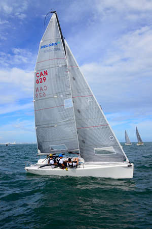 spar: Miami, FL   This past weekend, just ahead of the great American Thanksgiving holiday, over twenty Melges 24s descended upon the venue of the 2016 World Championship, the Miami Yacht Club MYC for the first act of the U.S. Melges 24 Class World Winter Serie