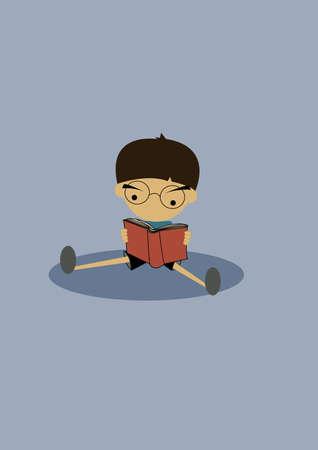 leggere libro: letto il libro.