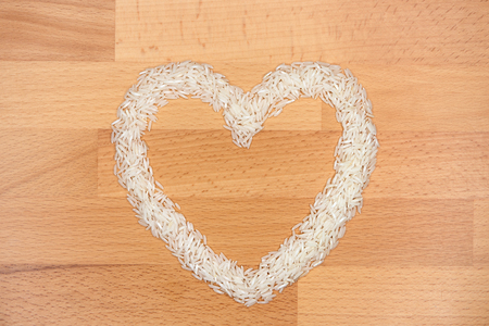rice shaped like a heart