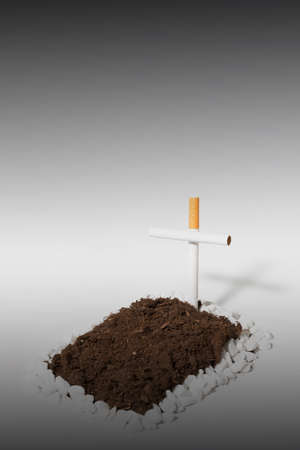 stempel: Stop Smoking with grave Stock Photo