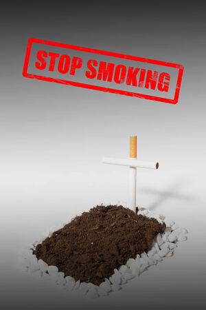 stempel: Stop Smoking with Stamp and grave