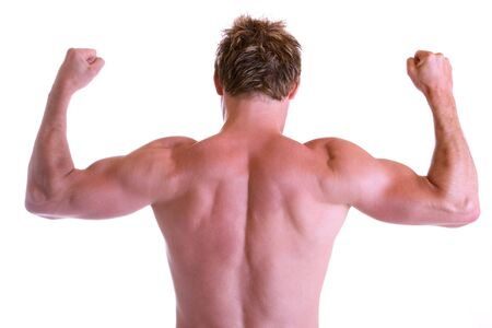 Man showing his back muscles Stock Photo - 5030366