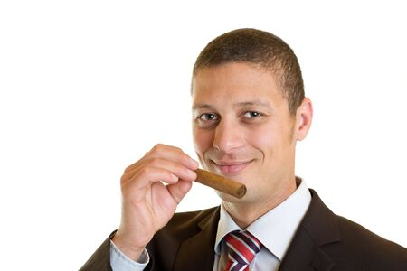 Manager with cigar  photo