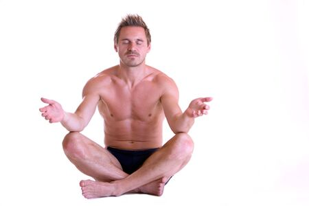 sportsman is meditating Stock Photo - 5170293