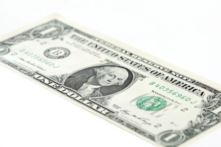 close-up of a one US dollar banknote photo