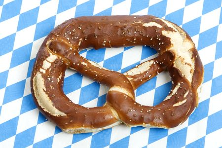 skoal: Close-up of one Bavarian Oktoberfest pretzel