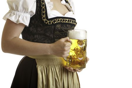 closeup of Bavarian girl wearing a