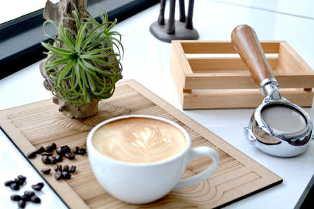 coffeetime: cup of coffee for breaking time. Stock Photo
