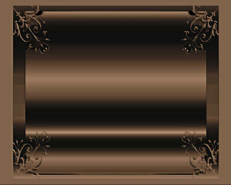 Elegant frame for special invitations photo
