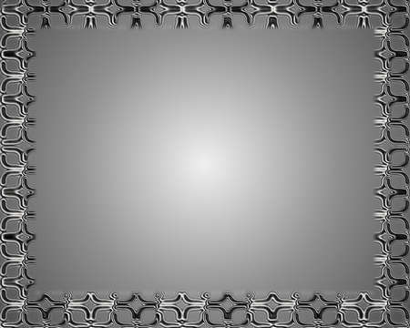 Silver abstract frame light photo