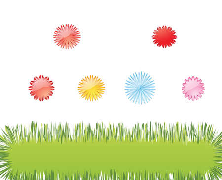 Spring greeting card Illustration