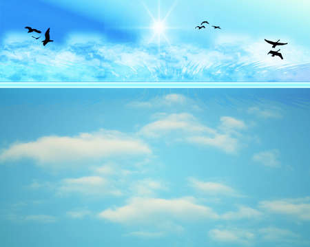 Abstract sky background Illustration