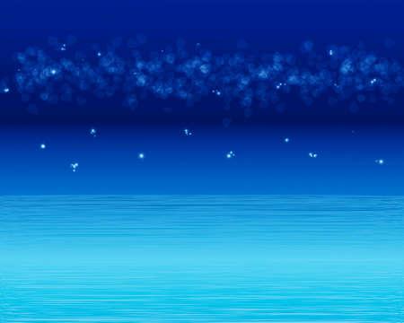 Fantasy night sea waves