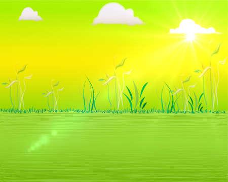 Colorful spring background Illustration