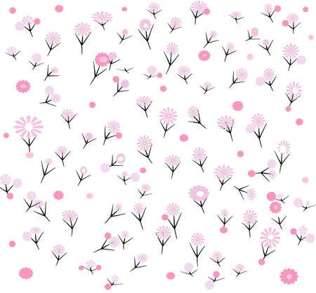 Pink flowers pattern Illustration