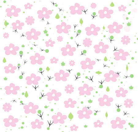 Cute spring flowers Illustration