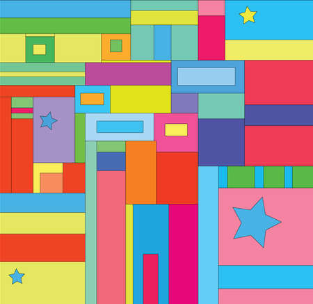 Colorful cute geometric background