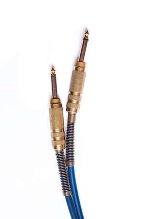 Audio cable 6.3mm jack, for example for guitar Stock Photo - 11484925