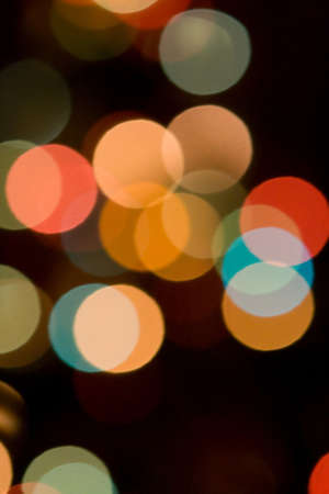 city lights: Lights out of focus, lens blur
