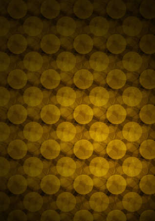 convex shape: Gold circles pattern on dark background Stock Photo