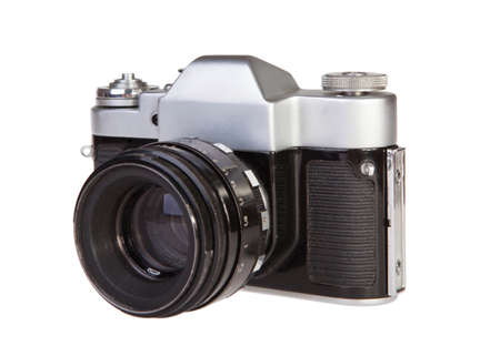 soviet: Old retro 35mm film camera soviet Stock Photo