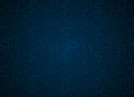 Dollar sign seamless vector background Vector