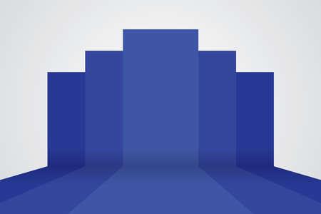 studio backdrop: 3d vector studio backdrop background Illustration