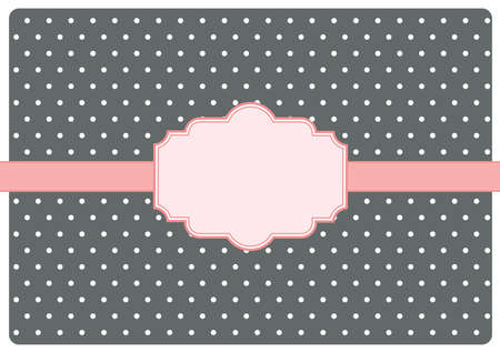greating card: greating card with label. vector