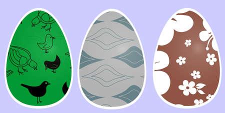 oval shape: festive Easter eggs