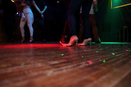 Sensual dance in the spotlight. Stock Photo