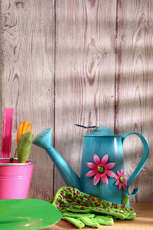 When the spring or autumn season comes, its time to organize the garden. Stock Photo