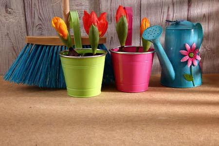 When the spring or autumn season comes, it's time to organize the garden. Stock Photo - 98559884