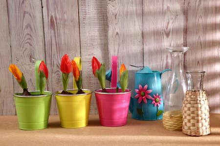 Garden tools that help streamline work related to gardening. Stock Photo