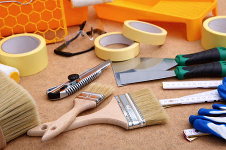 A collection of tools necessary for all painting floats.