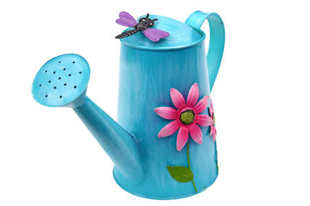 Decorative watering can for watering in the garden.