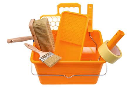 Outils et accessoires pour toute peinture pour un professionnel et un amateur. Banque d'images