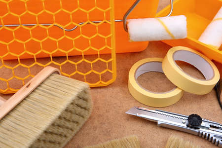 Accessories and tools necessary to paint a room or even the entire apartment,