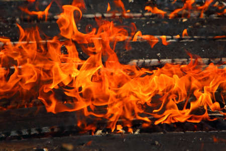 Fire is a phenomenon of thermal energy and light. Banco de Imagens