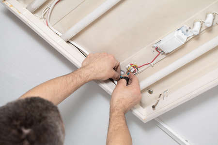 Every electrician, even with a lot of experience, is corner-wired for electric shock, so always be on your guard. Stock fotó
