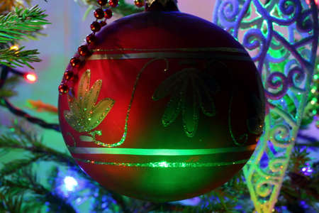 Christmas bauble is one of the basic decorations on one of the Christian holidays. 版權商用圖片
