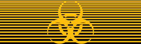 A worldwide known graphic pictogram indicating the biological contamination of a given area or object.